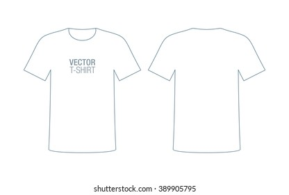 Vector T-shirt silhouette. Front & back sides.
