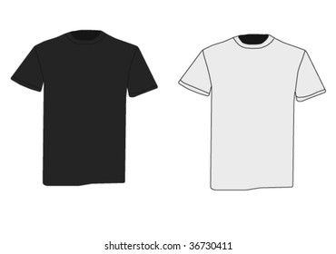 Vector t-shirts, black and white