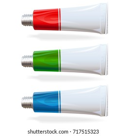 Vector Tube isolated on white background