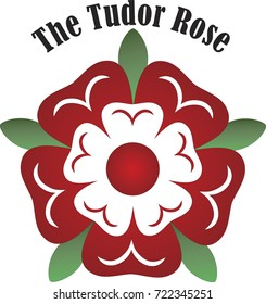 Vector Tudor dynasty rose England country