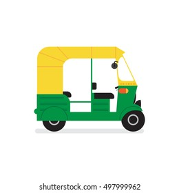 vector tuk-tuk. indian auto rickshaw concept. delhi auto. minimal design. vector illustration. eps10.