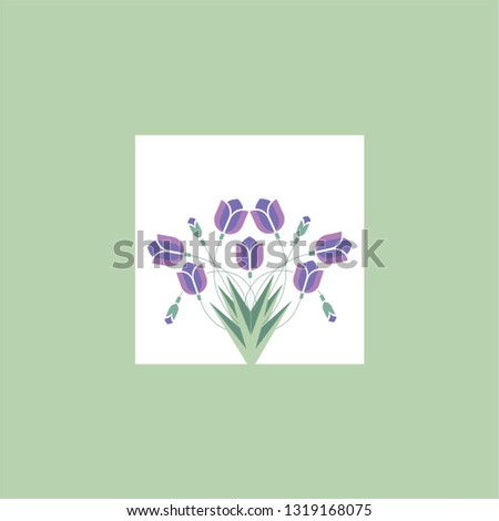 Vector Tulip Gift Woman Girl Wife Stock Vector (Royalty Free