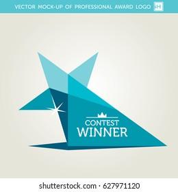 Vector Turquoise Award Logotype