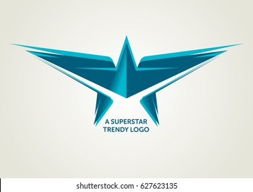 Vector Turquoise Superstar Logotype
