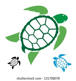 Sea Turtle Silhouette Images Stock Photos Vectors Shutterstock