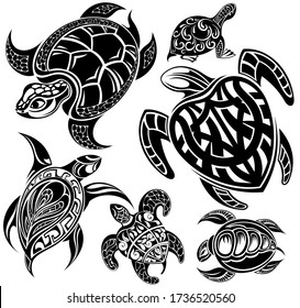 Vector of turtle design on a white background. Reptile. Animals.