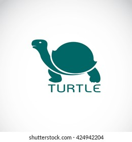 Vector of a turtle design on white background, Wild Animals. Reptile. Easy editable layered vector illustration.