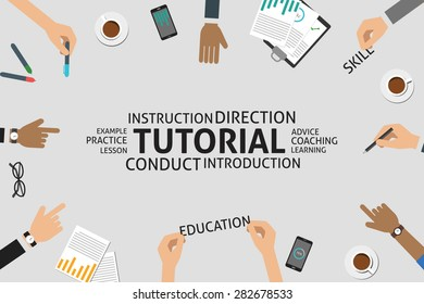 vector tutorial concept,template