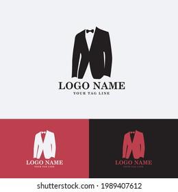 vector tuxedo logo, suitable for tailor logo or tuxedo brand logo