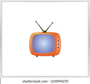 Vector TV icon. no signal tv