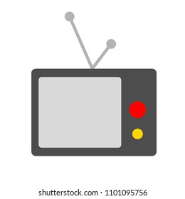 vector tv icon - television screen illustration - technology symbol, watch video