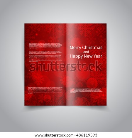 vector two fold brochure design template stock vector royalty free