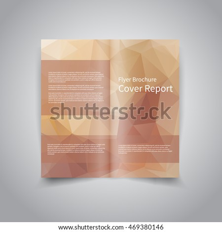 vector twofold brochure design template abstract stock vector