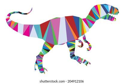 Vector tyrannosaurus rex in triangle style
