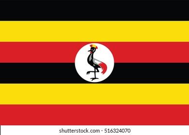Vector Uganda flag, Uganda flag illustration, Uganda flag picture, Uganda flag image