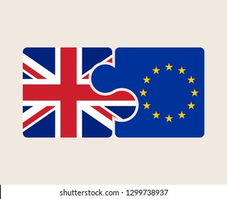 Vector UK and EU Flags Pazzle