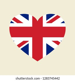 Vector UK Flag Heart