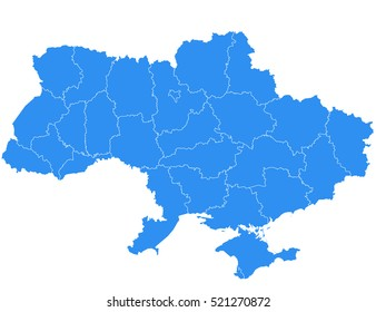 Vector ukraine map on white background