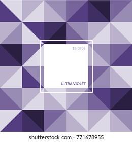 vector ultra violet color sample swatch template palette tone. stock illustration. label sign logo. graphic design trend. fashion textile interior mood board