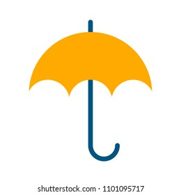 vector umbrella symbol, rain protection illustration - protect concept