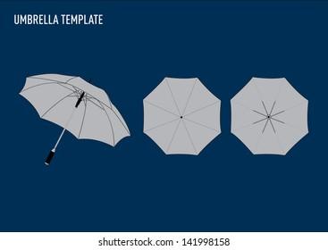 vector umbrella template