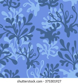 Vector underwater Seamless Blue Pattern