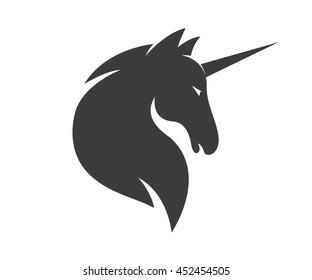 Vector unicorn or horse logo template