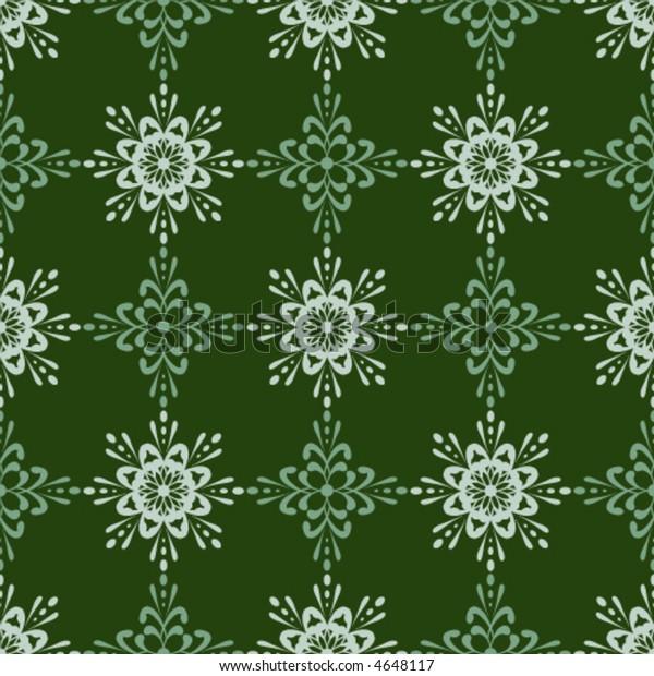 Vector Unique Detailed Seamless Wallpaper Tile Stock Vector