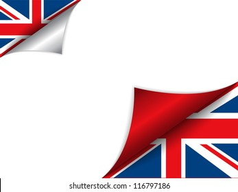 Vector - United Kingdom Country Flag Turning Page