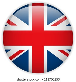 Vector - United Kingdom Flag Glossy Button