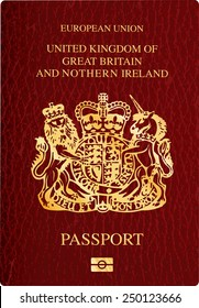 vector United Kingdom passport cover