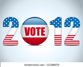 Vector - United States Election Vote Button Background.