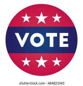 Vector - United States Election Vote Button