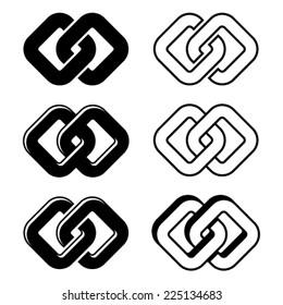vector unity black white symbols
