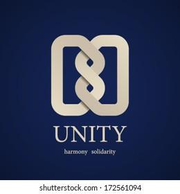 vector unity knot symbol design template