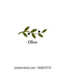 Vector unusual olive branch isolated logo, icon, illustration and symbol template.