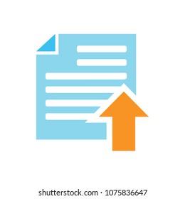 Vector Upload file icon - file document symbol - illustration