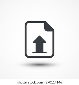 Vector Upload File Icon. Document report upload. Vector download button