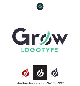 Vector Upward Arrow in a Circle Logo. Professional Company Business, Branding Icon. Growth Indicator Round Symbol.