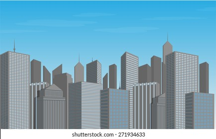 Vector of urban city