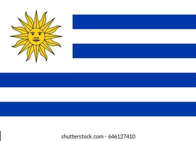 Vector Uruguay  flag, Uruguay flag illustration, Uruguay  flag picture, Uruguay  flag image