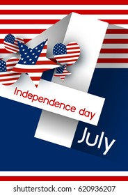 Vector USA 4 july independence day design