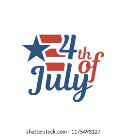 Vector USA American Independence Day 4 th July. Greeting card and poster Design
