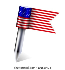 Vector USA country flag isolated on white. Eps10