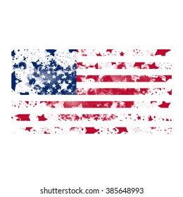 Vector USA grunge flag. Using for decoration works.