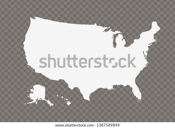 Vector Usa Map On Transparent Background Stock Vector ...