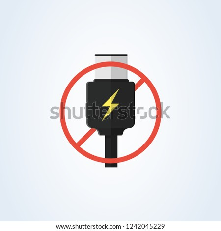 Vector Usb Typec Usbc Charge Flat Stock Vector Royalty Free