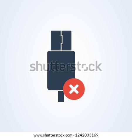 Vector Usb Typec Usbc Icon Delete Stock Vector Royalty Free