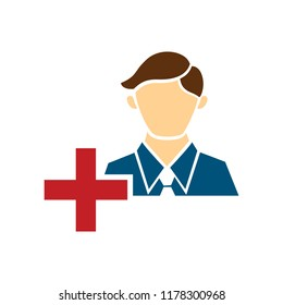 vector user icon, avatar silhouette, social symbol - member sign
