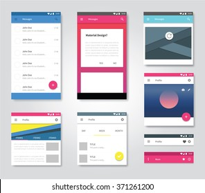 vector user interface graphic for applications developer / material design set